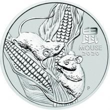 Stříbrná investiční mince Year of the Mouse Rok Myši Lunární 5 Oz 2020