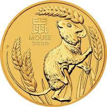 Zlatá investiční mince Year of the Mouse Rok Myši Lunární 10 Oz 2020