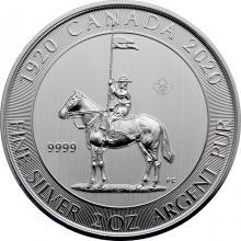 Stříbrná investiční mince Královská kanadská jízdní policie - 100. výročí 2 Oz 2020