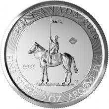 Strieborná investičná minca Kráľovská kanadská jazdná polícia - 100. výročie 2 Oz 2020