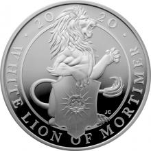 Stříbrná mince White Lion of Mortimer 1 Oz 2020 Proof