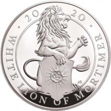 Stříbrná mince 5 Oz White Lion of Mortimer 2020 Proof