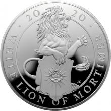 Stříbrná mince 10 Oz White Lion of Mortimer 2020 Proof