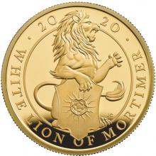 Zlatá mince White Lion of Mortimer 1 Oz 2020 Proof