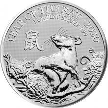 Strieborná investičná minca Rok Myši Lunárny The Royal Mint 1 Oz 2020