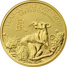 Zlatá investičná minca Rok Myši Lunárny The Royal Mint 1 Oz 2020