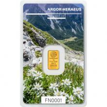 1g Argor Heraeus Following Nature II. - Jeseň 2018 Investičná zlatá tehlička