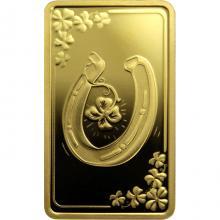Zlatá mince podkova pro štěstí 2020 Proof
