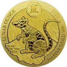 Zlatá minca Rok Krysy Rwanda 1 Oz 2020