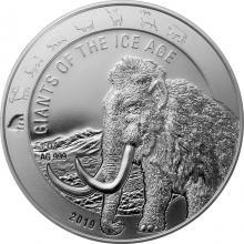 Stříbrná investiční mince Obři doby ledové - Mamut srstnatý 1 Oz 2019