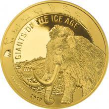 Zlatá investiční mince Obři doby ledové - Mamut srstnatý 1 Oz 2019