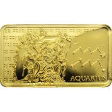 Zlatá mince Znamení zvěrokruhu - Vodnář 2020 Proof