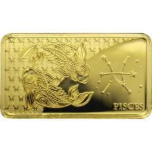 Zlatá mince Znamení zvěrokruhu - Ryby 2020 Proof