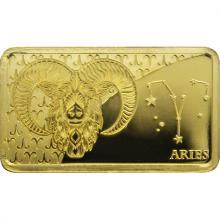 Zlatá mince Znamení zvěrokruhu - Beran 2020 Proof