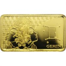 Zlatá mince Znamení zvěrokruhu - Blíženci 2020 Proof