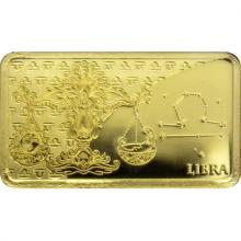 Zlatá mince Znamení zvěrokruhu - Váhy 2020 Proof