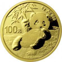 Zlatá investiční mince Panda 8g 2020