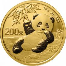 Zlatá investičná minca Panda 15g 2020