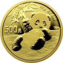 Zlatá investiční mince Panda 30g 2020