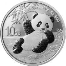 Stříbrná investiční mince Panda 30g 2020