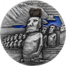 Stříbrná mince 2 Oz Rapa Nui 2020 Antique Standard