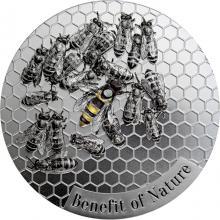 Stříbrná mince Benefit přírody - včela medonosná 1 Oz 2019 Proof