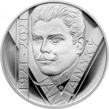 Stříbrná mince 200 Kč Jan Janský 100. výročí úmrtí 2021 Proof