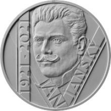 Stříbrná mince 200 Kč Jan Janský 100. výročí úmrtí 2021 Standard