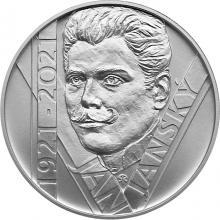 Strieborná minca 200 Kč Jan Janský 100. výročie úmrtia 2021 Štandard
