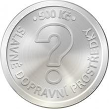 Stříbrná mince 500 Kč Parní lokomotiva Škoda 498 Albatros 2021 Standard