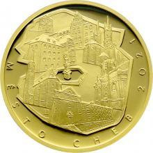 Zlatá minca 5000 Kč Mestská pamiatková rezervácia Cheb 2021 Proof