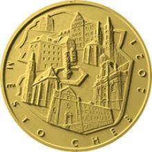 Zlatá mince 5000 Kč Městská památková rezervace Cheb 2021 Proof