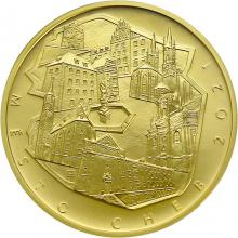 Zlatá mince 5000 Kč Městská památková rezervace Cheb 2021 Standard
