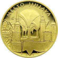 Zlatá minca 5000 Kč Mestská pamiatková rezervácia Jihlava 2021 Proof