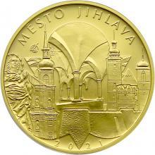 Zlatá minca 5000 Kč Mestská pamiatková rezervácia Jihlava 2021 Standard