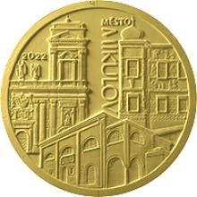 Zlatá mince 5000 Kč Městská památková rezervace Mikulov 2022 Proof