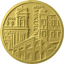 Zlatá mince 5000 Kč Městská památková rezervace Mikulov 2022 Standard
