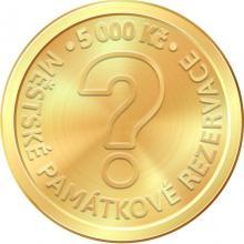 Zlatá mince 5000 Kč Městská památková rezervace Hradec Králové 2023 Proof