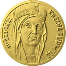 Zlatá mince 10000 Kč Kněžna Ludmila 2021 Standard