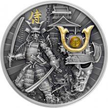 Stříbrná mince Válečníci - Samuraj 2 Oz 2019 Antique Standard