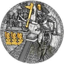 Stříbrná mince Válečníci - Mayský bojovník 2 Oz 2020 Antique Standard