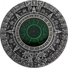 Stříbrná mince Kalendář Aztéků 2 Oz 2019 Antique Standard