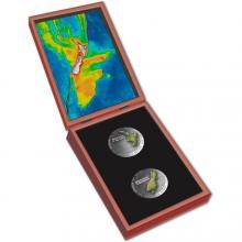 Sada dvou stříbrných mincí Nový Zéland 2 x 1 Oz 2020 Proof