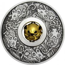 Stříbrná mince 1 Oz lunární Myš 2020 Antique Standard