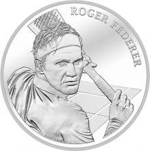 Stříbrná mince Roger Federer 2020 Standard