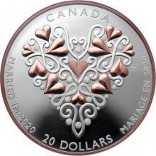 Stříbrná mince Svatba 2020 Proof