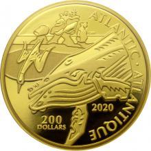 Zlatá mince Atlantic - kanadská pobřeží 1 Oz 2020 Proof