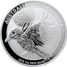 Stříbrná investiční mince Kookaburra Ledňáček 1 Oz 2018