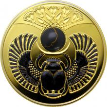 Stříbrná pozlacená mince Skarabeus Onyx 2019 Proof