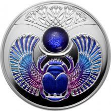 Stříbrná mince Skarabeus Safír 2020 Proof